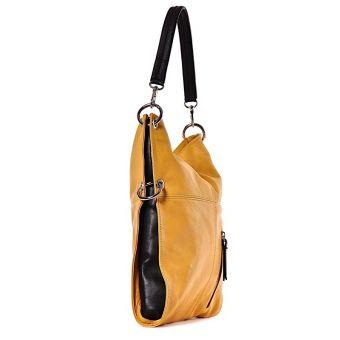 Żółta torebka damska skóra Charme