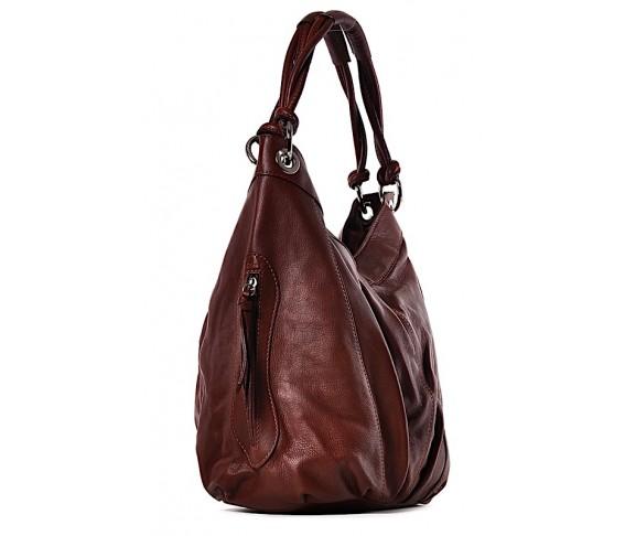 Skórzana torebka damska duża na ramię Dafne