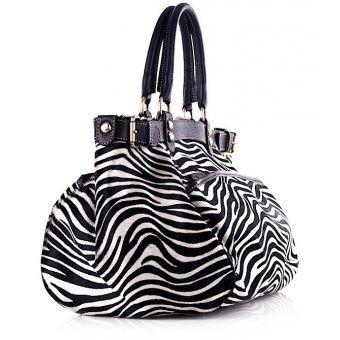 Luksusowa torebka włoska kuferek skórzana Bona