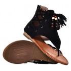 Czarne sandały damskie zamszowe