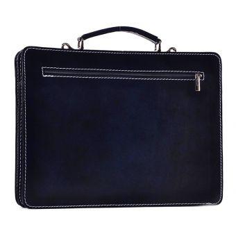 Granatowa torba damska na laptopa Urania