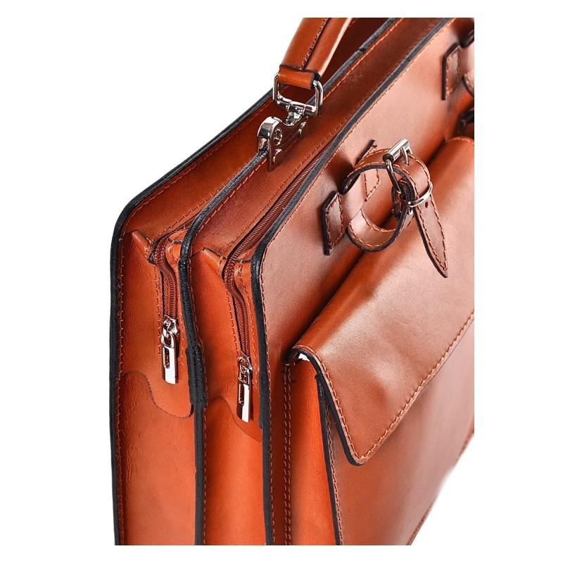 5ed54fcddbf1c ... Brązowa torba damska biznesowa Urania · Skórzana teczka biznesowa na  dokumenty