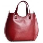 Torebka damska shopper bag czerwona