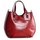 Czerwona torebka damska shopper Patrizia
