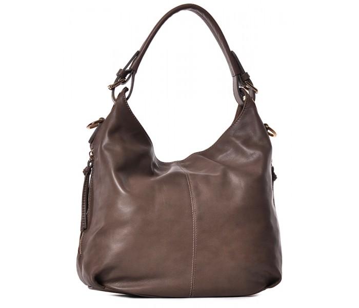 Beżowa torba damska ze skóry Flavia