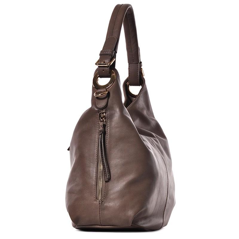 ee3c325d68006 ... Beżowa torba damska ze skóry Flavia ...