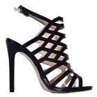 Czarne szpilki sandały damskie na obcasie