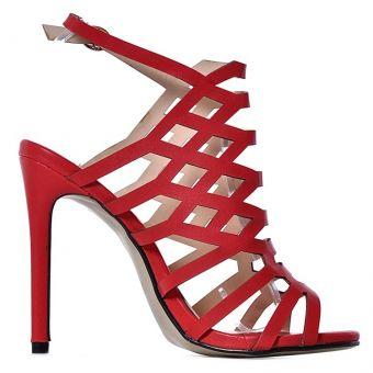 Czerwone szpilki damskie modne na lato