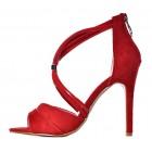 Stylowe buty damskie na szpilce czerwone