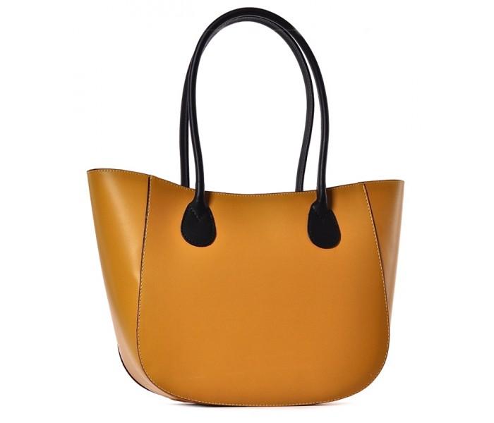Żółta torebka damska shopper skóra Bageria