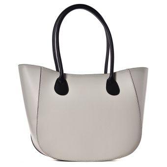 Beżowa torebka damska kuferek do ręki Bageria