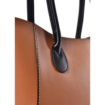 Brązowa torebka skórzana shopper Bageria