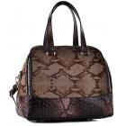 Brązowy kuferek damski skórzany Siena