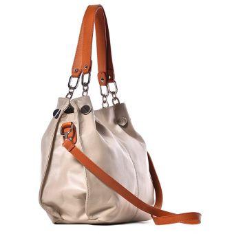Beżowa torebka damska skórzana Kiria