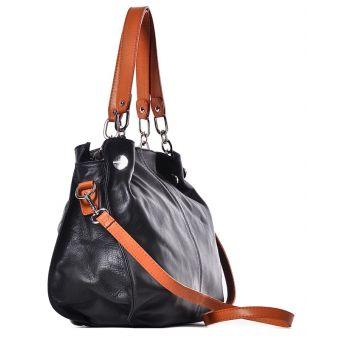 Skórzana torebka włoska na ramię Kiria