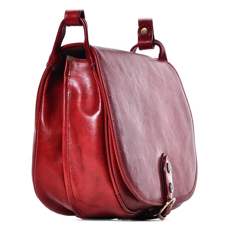 24fb314051a5e ... Czerwona torebka skórzana na ramię Malika ...