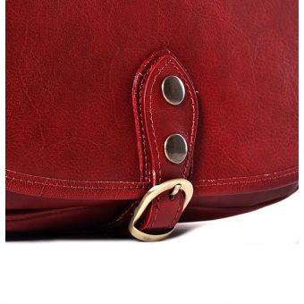 Czerwona torebka skórzana na ramię Malika