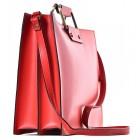 Biznesowa czerwona torba na laptopa skórzana Fiorina