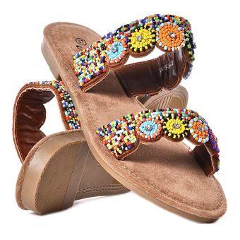 Klapki damskie na płaskiej podeszwie buty na lato