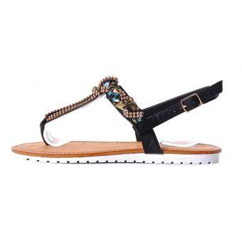 Japonki damskie sandałki na płaskiej podeszwie