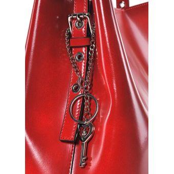 Elegancka torebka damska ze skóry czerwona