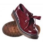 Bordowe buty damskie z kokardą