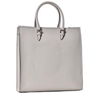 Biznesowa torba damska skórzana beżowa