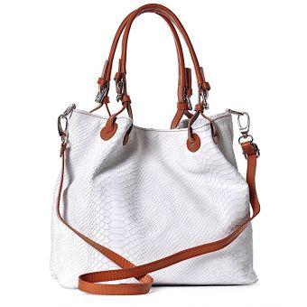 Biała torebka skóra naturalna elegancka na lato