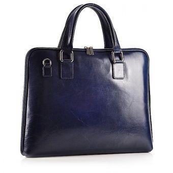 Granatowa torba damska a4 na laptopa
