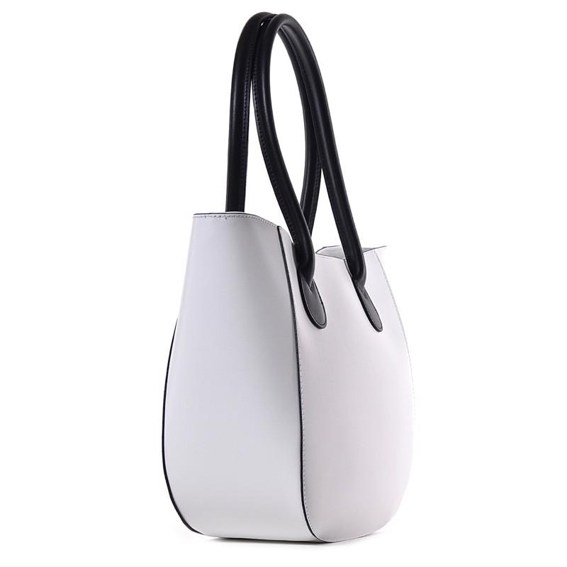 ba7b78cf74b05 Biała torba damska na lato shopper