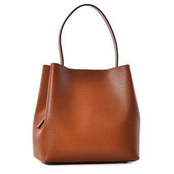 Brązowa torebka damska skórzana do ręki
