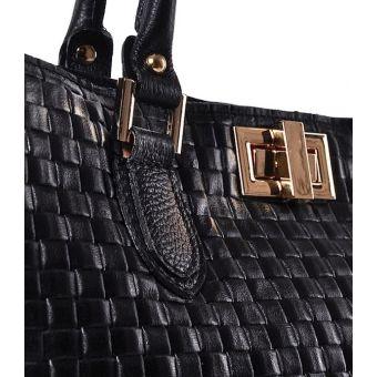 Damski kuferek skórzany czarny