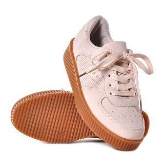 Buty sportowe damskie beżowe