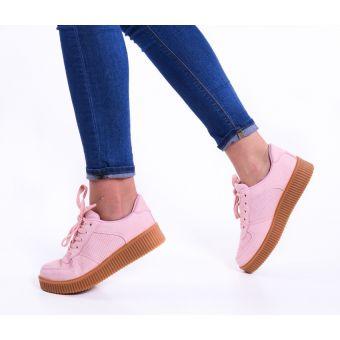 Damskie buty sportowe pudrowy róż