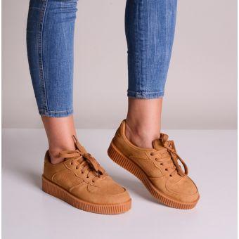 Buty sportowe damskie brązowe