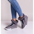 Szare sportowe buty damskie