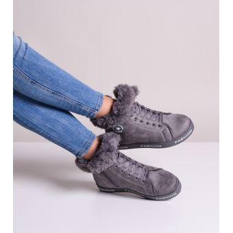 Szare buty damskie sportowe