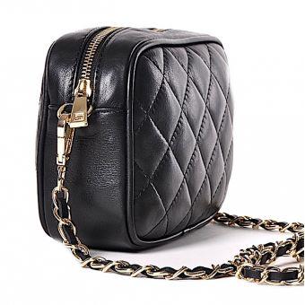 Czarna torebka damska pikowana chanelka