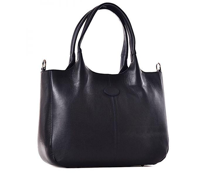 Czarna torba damska na laptopa skórzana