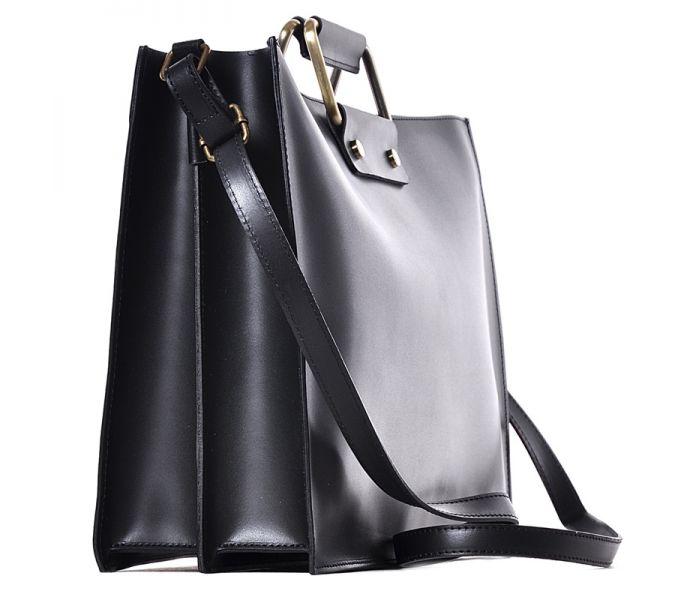 7b082f3833207 Biznesowa czarna torba na dokumenty skórzana