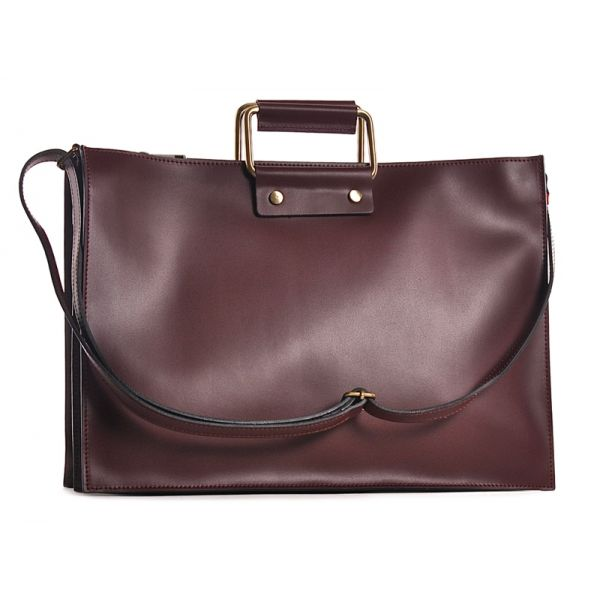 Bordowa torba damska biznesowa