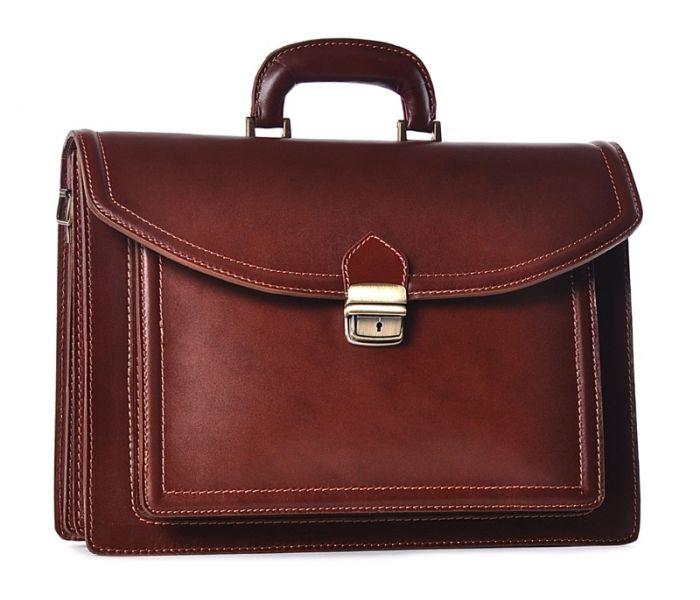 7ce99661ba5ab Skórzana torba męska brązowa na laptopa