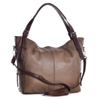 Beżowa torba damska worek