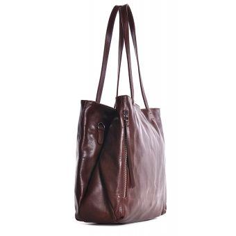 Skórzana torba a4 na ramię brązowa