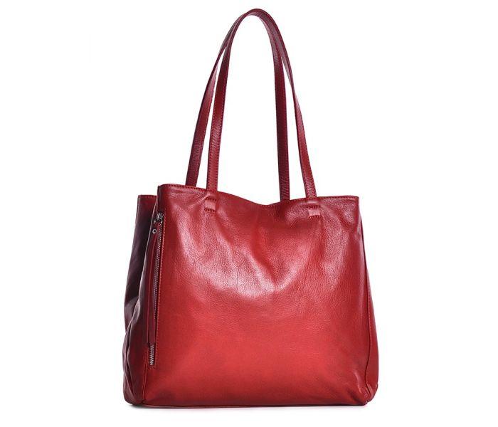 Włoska torebka ze skóry czerwona