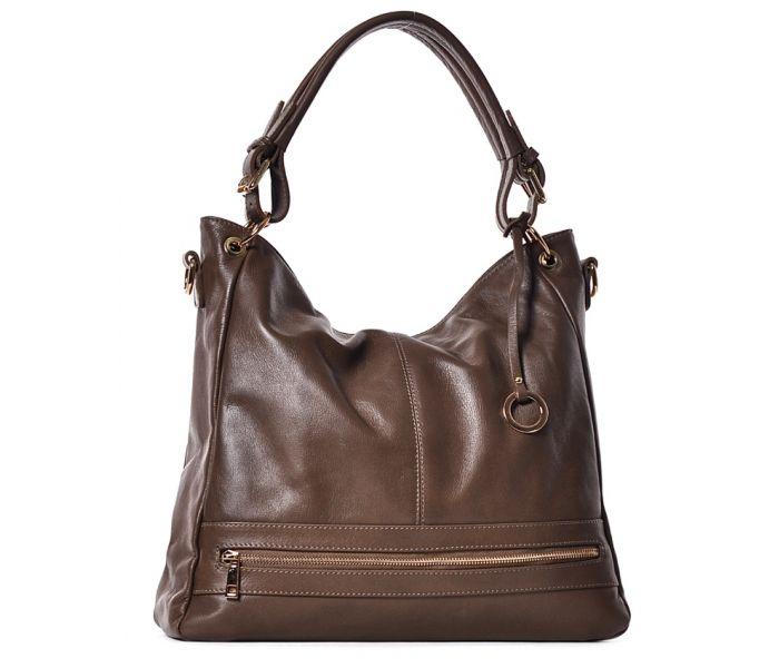 2ef47d6ae098a Duża beżowa torba skórzana na ramię elegancka