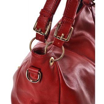 Duża czerwona torba damska worek