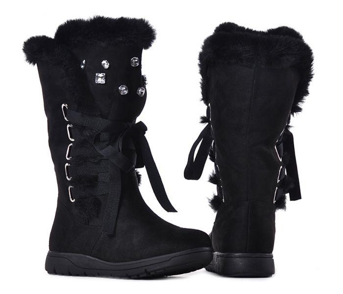Czarne śniegowce Damskie