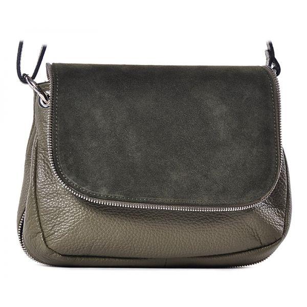 Zielona mała torebka damska