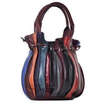 Kolorowa torebka damska ze skóry